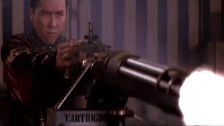 甄子丹用加特林重机枪疯狂扫射
