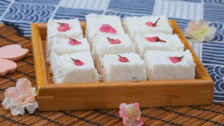 自创高颜值又好吃的樱花蒸米糕, 软糯香甜, 家人赞不绝口