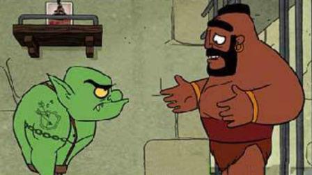 皇室战争老高老肉超级骑士动画片懵逼时刻开箱野蛮人滚筒 2v2有个队友就是不一样