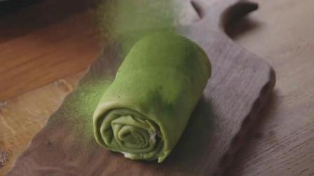 新手也能做的抹茶千层毛巾卷, 高颜值的甜品