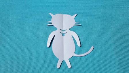 剪纸小课堂: 小猫咪, 儿童喜欢的手工DIY, 动手又动脑