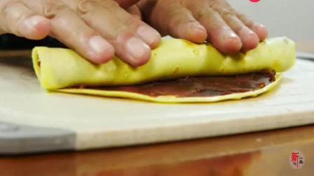 早上3分钟做个鸡蛋豆沙卷!