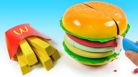 玩转色彩游戏让宝宝更聪明! 创意DIY麦当劳超级汉堡, 视频教程送给你