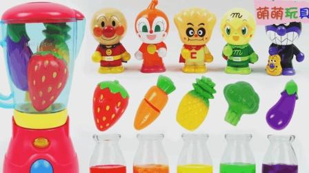 玩转色彩游戏让宝宝更聪明, 萌宝一起来给红豆面包超人做营养餐啦