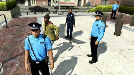 GTA5趣味测试: 扮成警察却被路人暴揍, 警察会不会管?