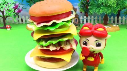糖糖猪猪侠玩具 32 猪猪侠制作美味汉堡包 猪猪侠制作美味汉堡包