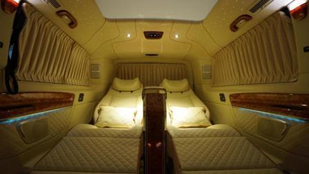 奔驰V-260长轴4+2磅礴登场, 后舱VIP两座的设计! 奔驰就敢问你服不服?