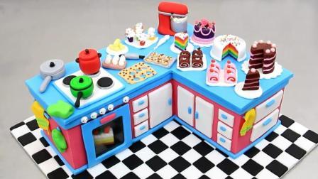 当普通蛋糕遇上创意大师, 瞬间变成五彩缤纷的厨房蛋糕, 太赞了!