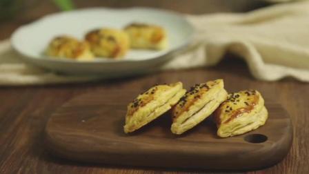 【榴莲酥】酥脆的蛋挞皮裹上甜糯的榴莲肉, 一口一个停不下来