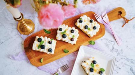 我的日常料理 第一季 美好的春天一定要有甜美的点心来应景 蓝莓柠檬芝士蛋糕