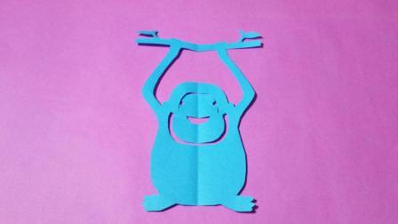 剪纸小课堂: 猩猩, 儿童喜欢的手工DIY, 动手又动脑