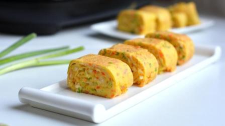 每天做个营养美味的黄金鸡蛋卷, 吃一个不过瘾, 电饼铛轻松搞定!