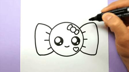 幼儿早教画画, 手把手教孩子简笔画可爱sweet糖果