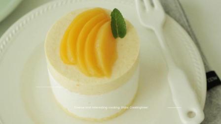 美食搬运: Cooking tree系列, 黄桃儿摩丝蛋糕