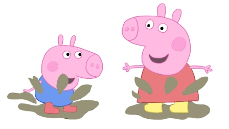 小猪佩奇与弟弟乔治一起玩耍儿童亲子简笔画