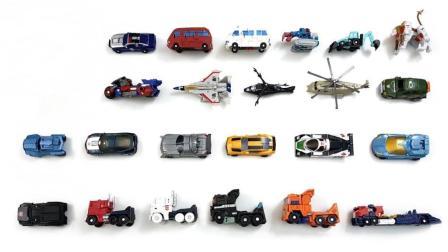 不同种类汽车人变形