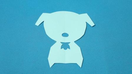 剪纸小课堂: 小狗3, 儿童喜欢的手工DIY, 动手又动脑