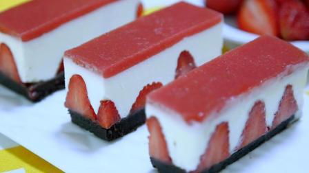 教你不需烤箱也能做出诱人的甜点~草莓慕斯蛋糕 ~做法简单易上手