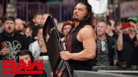 【RAW 03/26】(中字) 罗门-伦斯突然现身 抄起铁椅狂抽猛兽大布