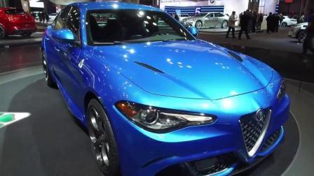 2018款阿尔法罗密欧Giulia蓝色版实拍