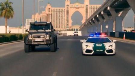 迪拜豪车遍地, 交警都是这样处理违章, 真是太霸气了!