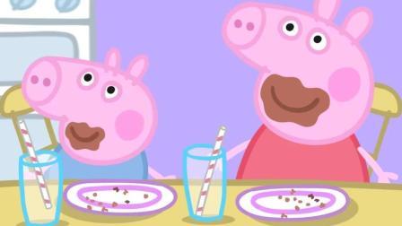 小猪佩奇: 吃蛋糕吃的满嘴都是, 小家伙们太可爱了