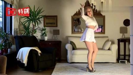 外国美女姐姐室内健身跳热舞, 求背景音乐