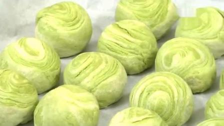 做菜教学视频: 如何做抹茶豆沙酥
