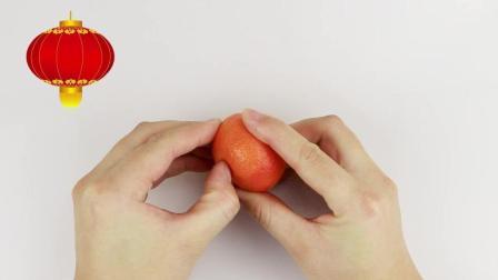 3分钟教你用橘子做一个灯笼, 漂亮又简单, 一学就会!