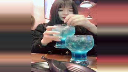 美女用小西瓜小菠萝做冰淇淋, 水果冰淇淋创意又好吃