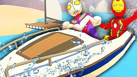 【屌德斯&小熙】 基佬大冒险 海贼王遇到飞天BUG迪迦奥特曼和钢铁侠双双上天!