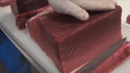 价值13万的新鲜金枪鱼, 从整鱼到刺身这刀工太震撼了。