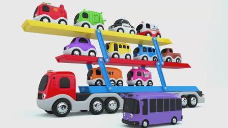 亮亮玩具学习数字颜色, 汽车动画学英语, 婴幼儿宝宝教育游戏视频867