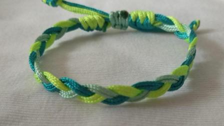 三股辫手链编织15cm需要3根60cm的线