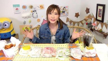 日本吃播大胃王木下佑香吃乐天利汉堡、炸鸡薯条