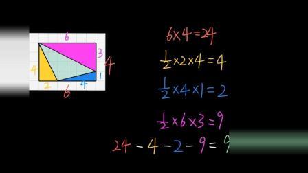 五年级数学 46 |多边形的面积: 在网格中求三角形面积