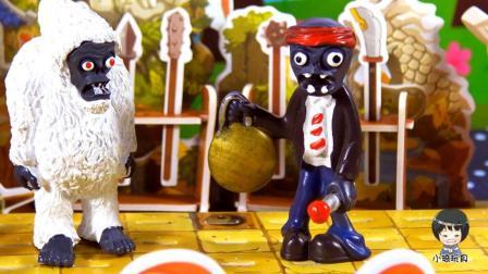 植物大战僵尸2打锣僵尸和雪人僵尸指甲盖刮锅底的搞笑故事 07