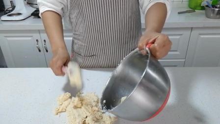 糖霜饼干制作(十一): 把面团刮出, 准备揉面团