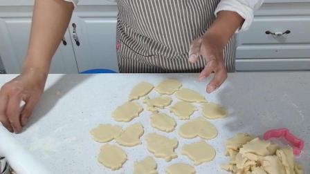 糖霜饼干制作(十七): 慢慢去掉多余的边角料