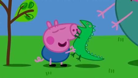 小猪佩奇: 佩奇晚上只有抱着恐龙一起睡觉, 才能睡着