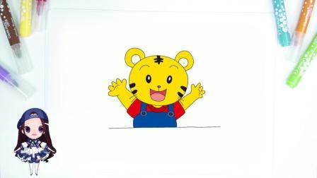 简笔画: 卡通人物系列 — 可爱巧虎岛之巧虎