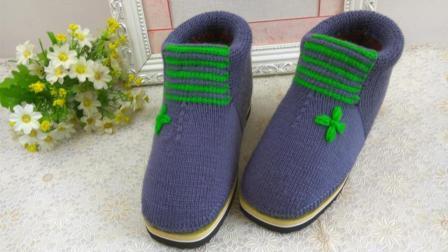 【手工织品】青花瓷刺绣幸运草刺绣,毛线刺绣教程编织的方法图解