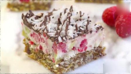 美味的树莓猕猴桃芝士蛋糕, 味道真的很好