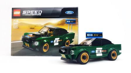 【月光砖厂】乐高LEGO75884超级赛车系列1968年福特野马快背评测