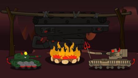 坦克世界欢乐动画: 今天算你们有口福了, 我请大家吃火烤利维坦!
