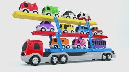 亮亮玩具学习字母和颜色, 汽车动画学英语, 婴幼儿宝宝教育游戏视频866