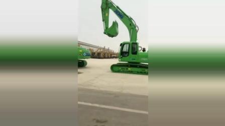新款徐工挖掘机, 车身绿色, 国内销售排名第一! !