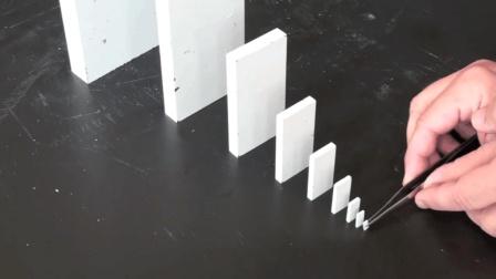 神奇的多米诺骨牌效应, 你猜能否推倒最大的块?