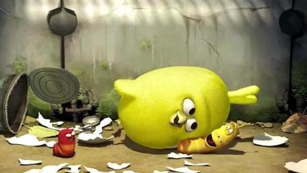爆笑虫子: 小鸡破壳日出, 非常喜欢小黄, 喜欢亲近小黄
