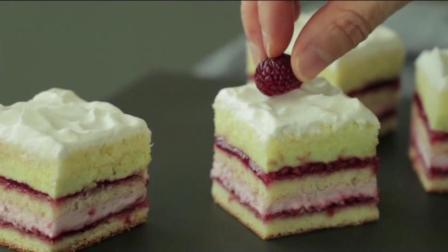 一食三刻: 覆盆子开心果蛋糕的做法, 在家就可以做的蛋糕!